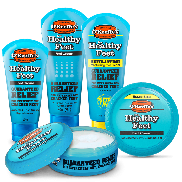 O'Keeffe's Healthy Feet - all products
