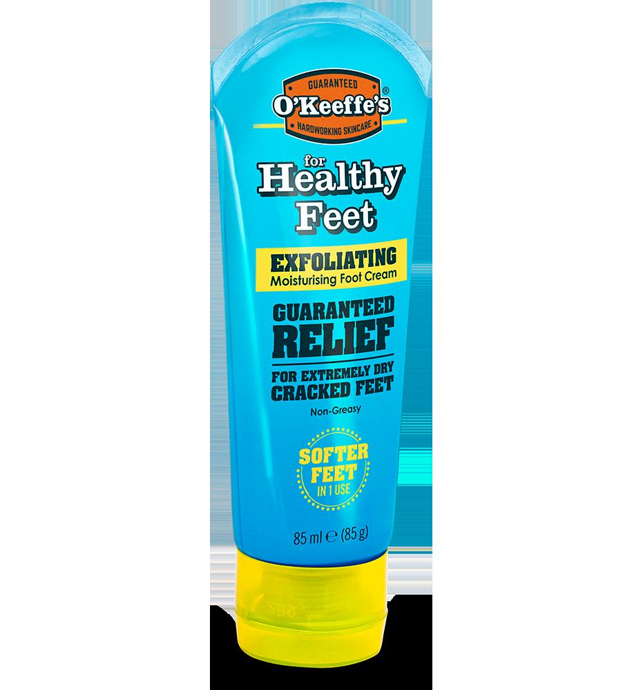 O'Keeffe's Healthy Feet Exfoliating Foot Cream - tube 85g side view